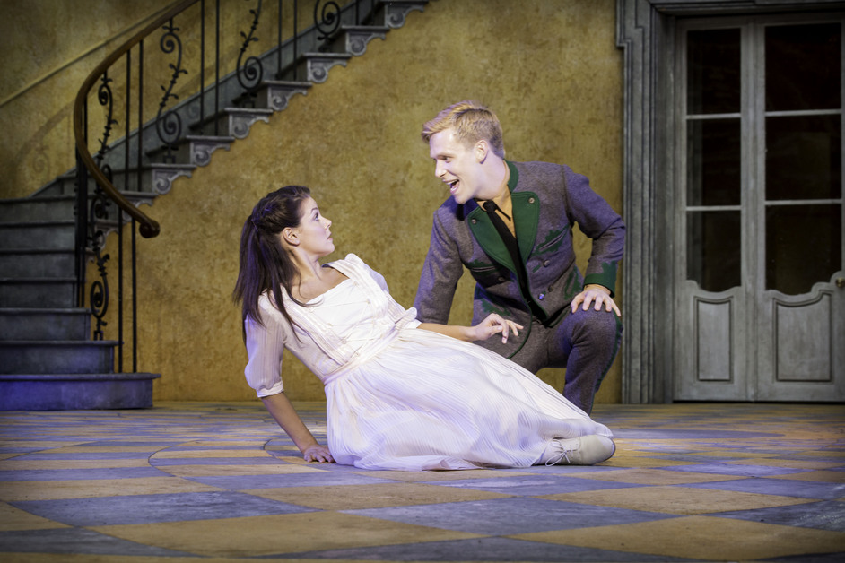 The Sound of Music - Faye Brookes and Joshua Tonks as Liesl and Rolf. Photo by Johan Persson
