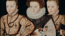 Elizabeth I and Her People - Three unknown Elizabethan children, Unknown Anglo-Netherlandish artist, c.1580