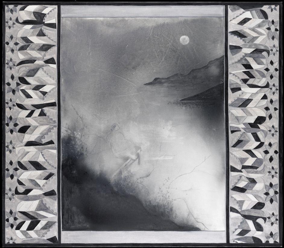 Silke Otto-Knapp - Front Cloth (Mondaufgang) 2011 150x170 cm