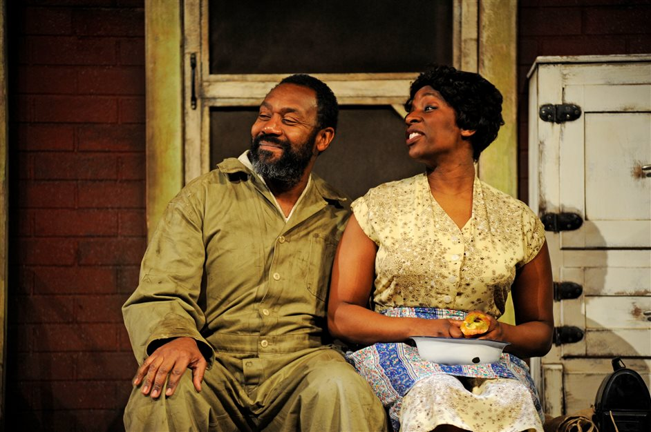 Fences - Fences - Lenny Henry and Tanya Moodie, photo by Nobby Clark