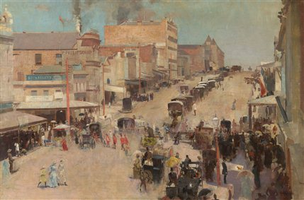 Australia - Tom Roberts, Allegro con brio: Bourke Street west c.1885-86, reworked 1890, , National Gallery of Australia, Canberra