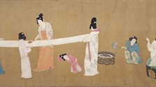 Masterpieces of Chinese Painting 700-1900 - Emperor Huizong (1082-1135) - Court Ladies Preparing Newly Woven Silk