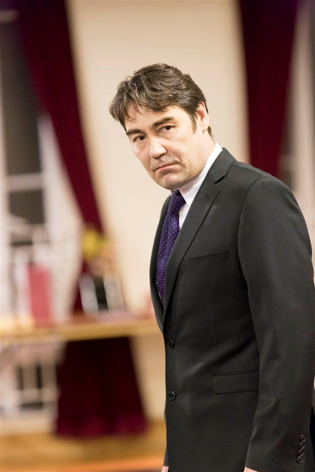 The Audience - Nathaniel Parker in rehearsals for The Audience, photo by Johan Persson