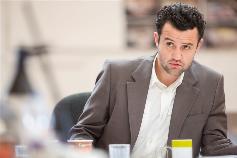 The Same Deep Water As Me - Daniel Mays in rehearsal for The Same Deep Water As Me. Photo by Manual Harlem