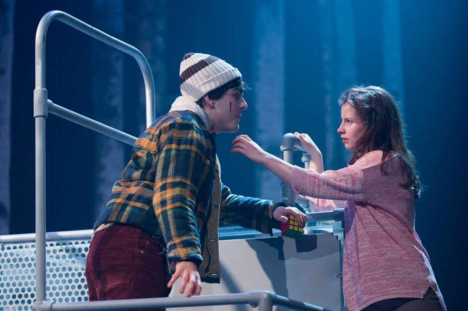 Let the Right One In - Martin Quinn and Rebecca Benson, photo courtesy of Dundee Rep Theatre