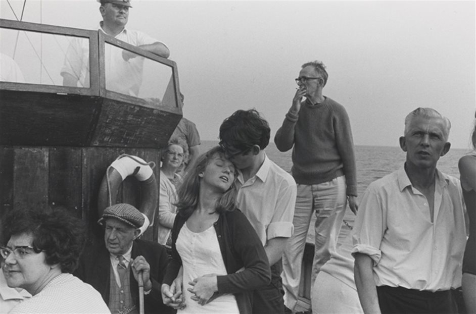 Only in England: Photographs by Tony Ray-Jones and Martin Parr - Beachy Head boat trip, 1967, Tony Ray-Jones © National Media Museum Collection