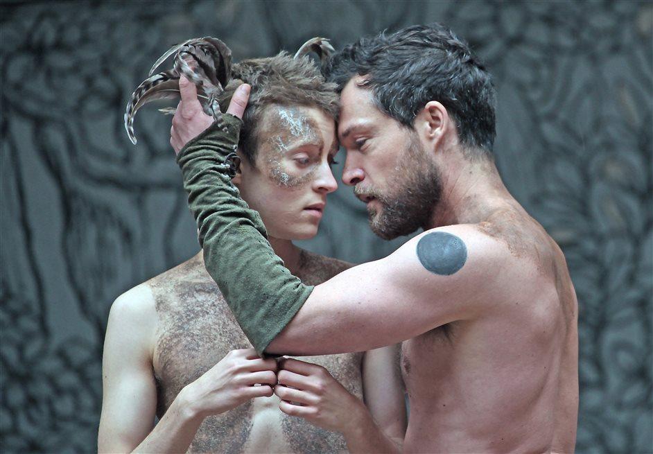 A Midsummer Night's Dream - John Light as Oberson and Matthew Tennyson as Puck, photo by John Haynes