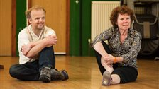 Circle Mirror Transformation - Toby Jones (Schultz) and Imelda Staunton (Marty) by Stephen Cummiskey