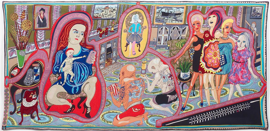 Royal Academy Summer Exhibition - Grayson Perry RA, The Adoration of the Cage Fighters, 2012 © Grayson Perry. Photo © Stephen White
