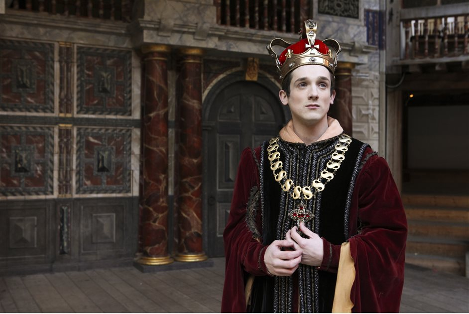 Henry VI: Three Plays - Graham Butler as Henry VI, photo by Ellie Kurtz