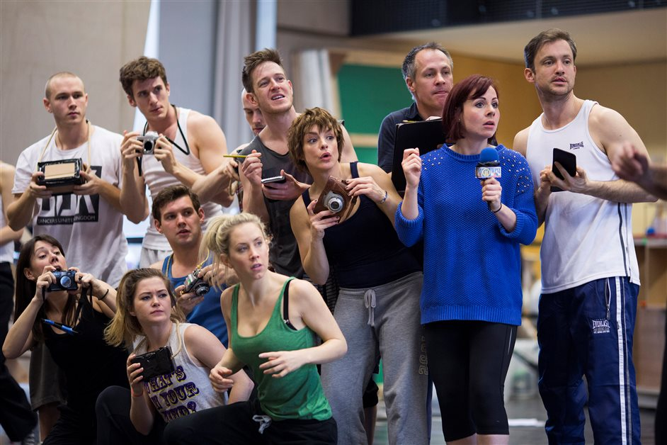 Charlie and the Chocolate Factory - Members of the company in rehearsals for Charlie and the Chocolate Factory - Picture by Helen Maybanks