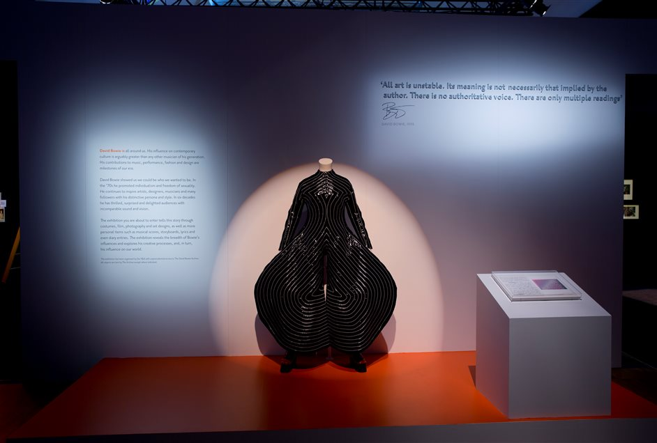David Bowie Is - courtesy Victoria and Albert Museum