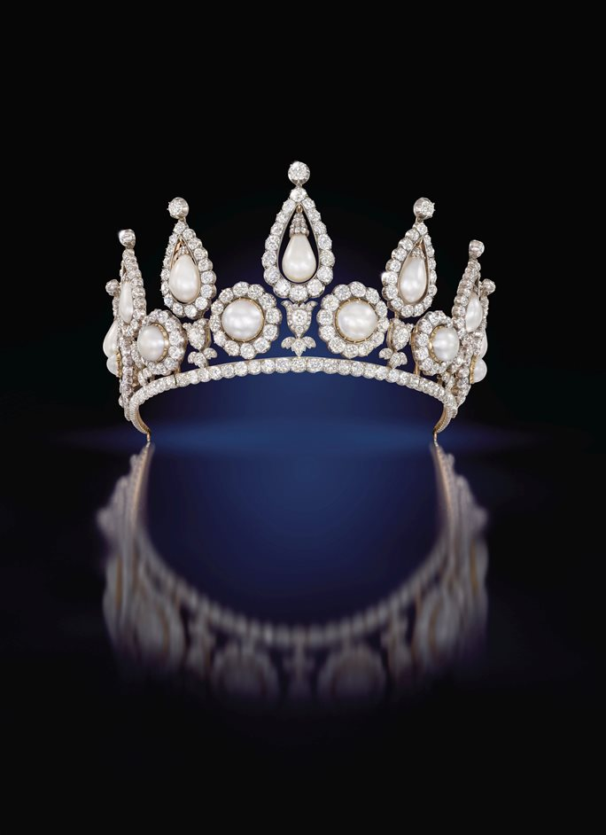 Pearls - The Rosebery Tiara. QMA Collection. Photo Sothebys