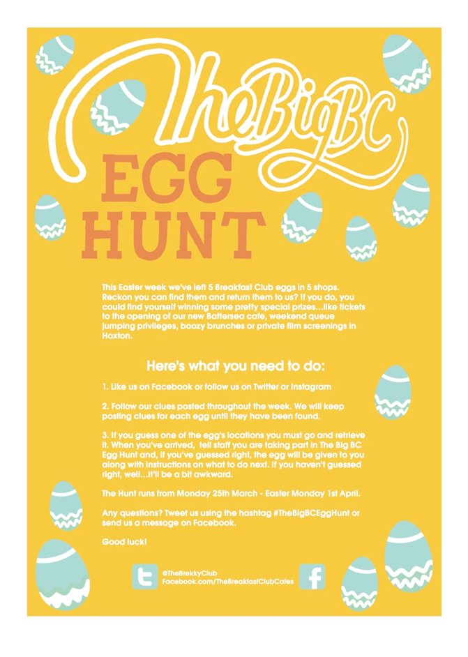 The Big Breakfast Club Egg Hunt