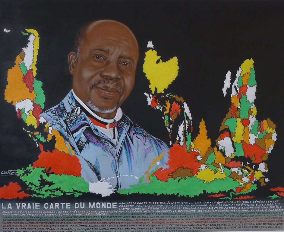 1:54 Contemporary African Art Fair - Ch�ri Samba, La vraie carte du monde