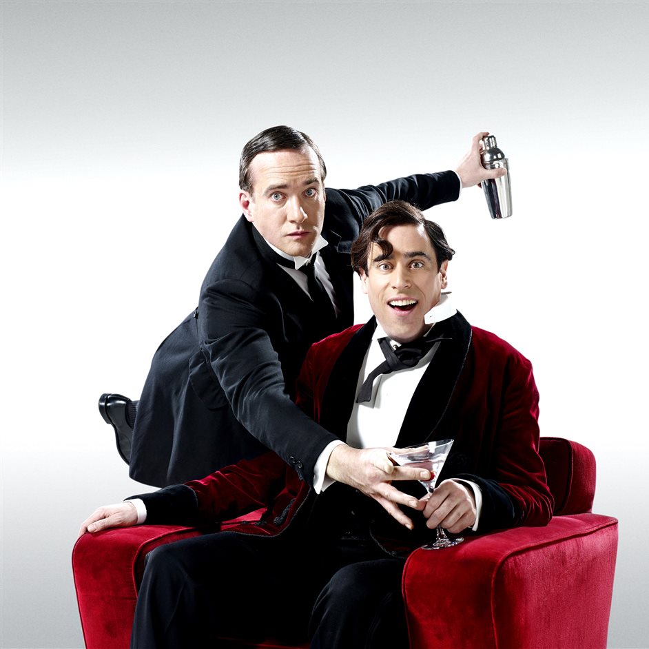 Jeeves and Wooster in Perfect Nonsense - Matthew Macfadyen (Jeeves) and Stephen Mangan (Wooster) in Perfect Nonsense at the Duke of York's Theatre. Photo by Uli Weber