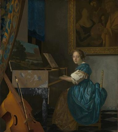 Vermeer and Music: The Art of Love and Leisure - Vermeer, Young Woman Seated at a Virginal