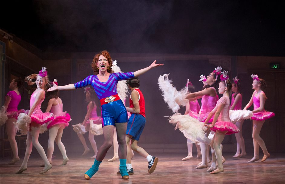 Billy Elliot - Billy Elliot, Mrs Wilkinson (Anna-Jane Casey) and the Ballet Girls by Alastair Muir