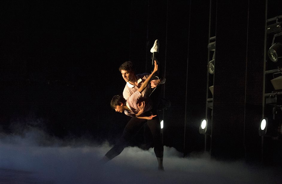 Billy Elliot - Older Billy (Alexander Loxton) and Ali Rasul (Billy Elliot) by Alastair Muir