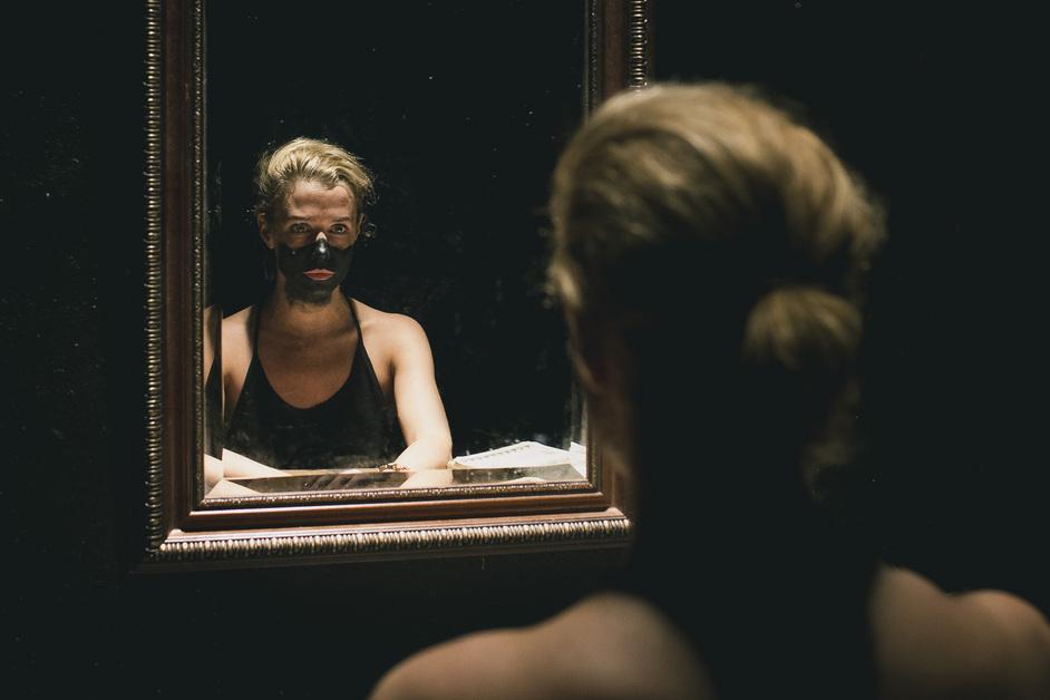 Not I, Footfalls, Rockaby - Lisa Dwan. Photo Finn Beales