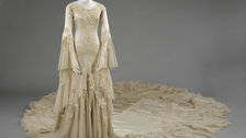 Wedding Dress 1775-2014 - Silk satin wedding dress designed by Norman Hartnell 1933 given and worn by Margaret, Duchess of Argyll by Victoria and Albert Museum, London