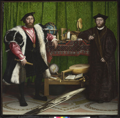 Strange Beauty: Masters Of The German Renaissance - Jean de Dinteville and Georges de Selve ('The Ambassadors'), Hans Holbein the Younger, 1533 by The National Gallery, London