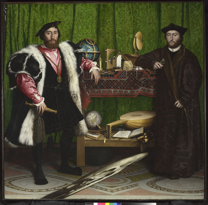 Strange Beauty: Masters Of The German Renaissance - Jean de Dinteville and Georges de Selve ('The Ambassadors'), Hans Holbein the Younger, 1533 © The National Gallery, London