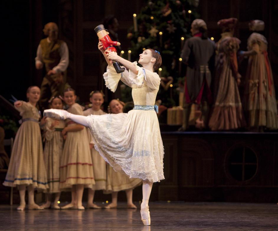 The Royal Ballet: The Nutcracker - Elizabeth Harrod as Clara in The Nutcracker. Photo ROH, Johan Persson