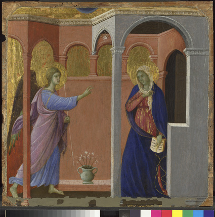 Building the Picture: Architecture in Italian Renaissance Painting - The Annunciation, Duccio, 1307/8-1311 © The National Gallery, London