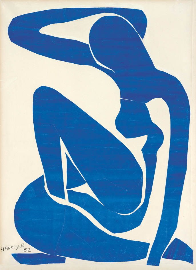 Henri Matisse: The Cut-Outs - Henri Matisse, Blue Nude (I) 1952, Foundation Beyeler, Riehen/Basel. Photo: Robert Bayer, Basel, copyright Succession Henri Matisse/DACS 2013