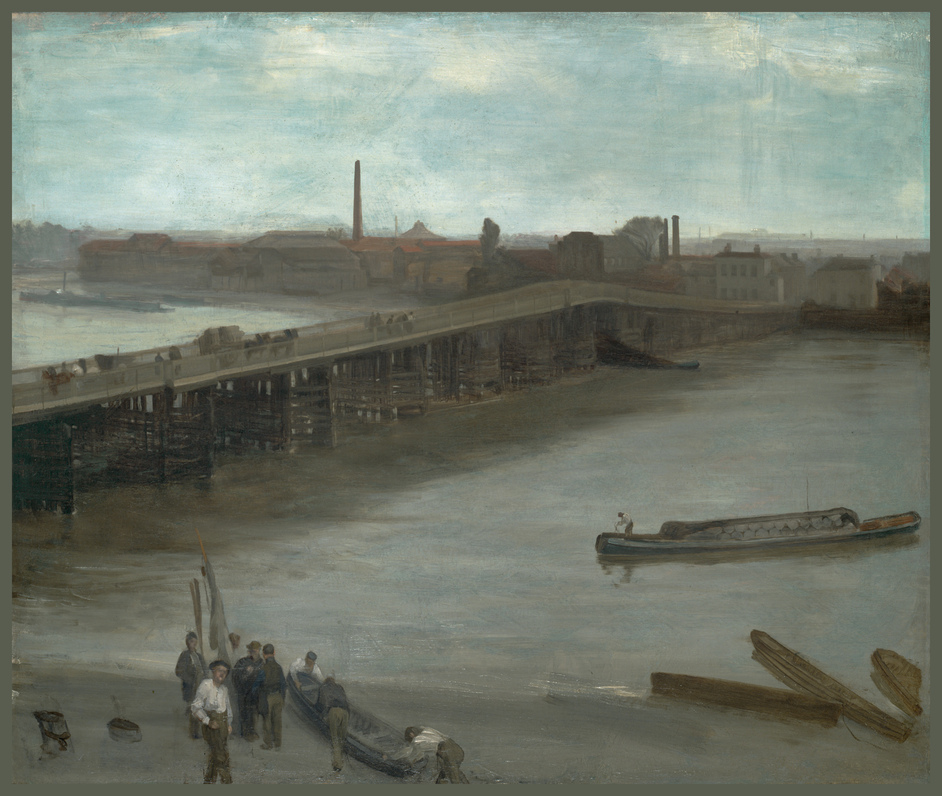 An American in London: Whistler And The Thames - Brown and Silver: Old Battersea Bridge, James Abbott McNeill Whistler, courtesy Addison Gallery of American Art, Phillips Academy, Andover, Massachusetts