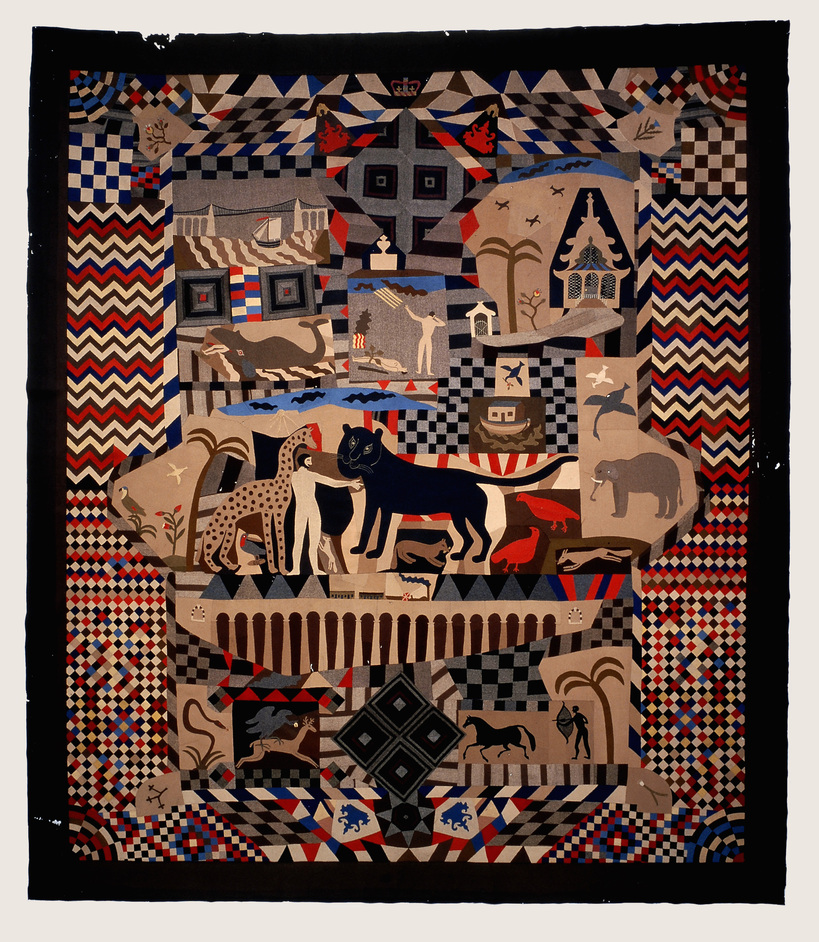 British Folk Art - Patchwork Bedcover made by James Williams, Wrexham 1842-52 St Fagans: National History Museum