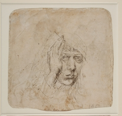 The Young Durer: Drawing the Figure - Albrecht Durer (1471-1528). Self-portrait (verso), c. 1491-92