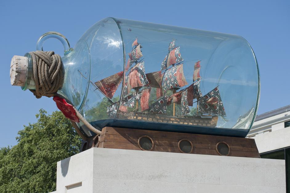 Yinka Shonibare: Nelson's Ship in a Bottle - Image courtesy of National Maritime Museum, London