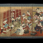 Women Of The Pleasure Quarters: A Japanese Painted Screen