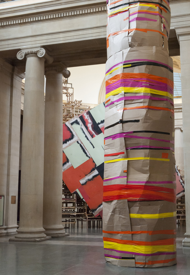 Tate Britain Commission 2014: Phyllida Barlow - Phyllida Barlow: dock 2014. Image J Fernandes, Tate Photography