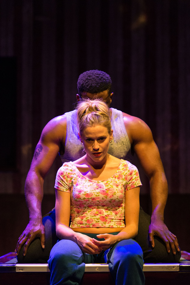 Othello - Kirsty Oswald (Desdemona) and Mark Ebulue (Othello). Photo: Manuel Harlan