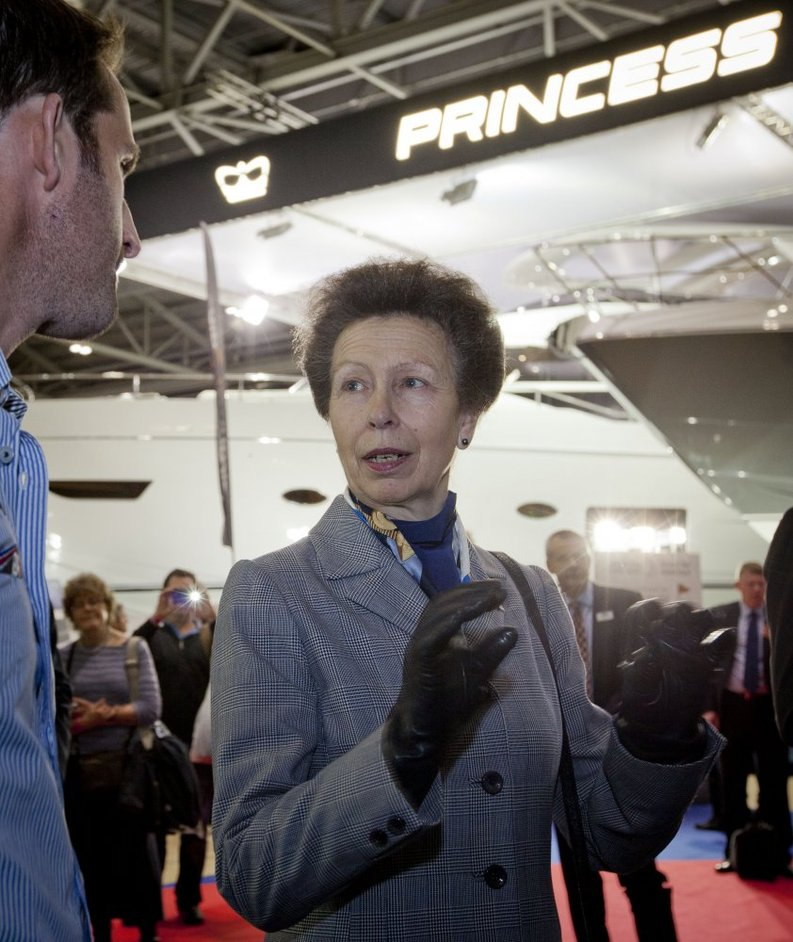 London Boat Show - HRH The Princess Royal at the London Boat Show 2014, image: onEdition