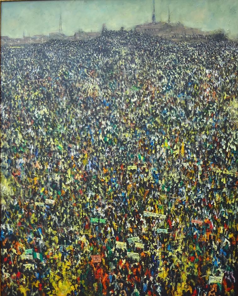 Transcending Boundaries - Kolade Oshinowo - Protest