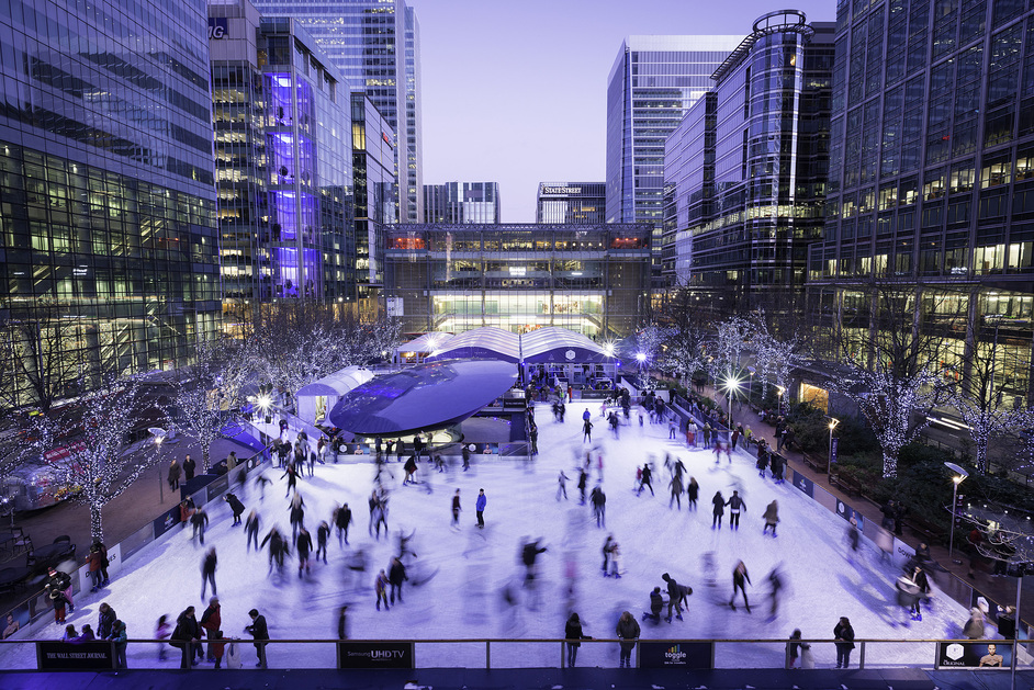 LUMINOCITY: Ice Rink Canary Wharf