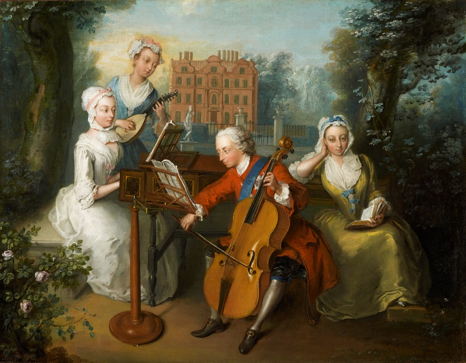 By George! Handel's Music for Royal Occasions - NPG 1556, ?The Music Party? (Frederick Lewis, Prince of Wales, and his sisters, An