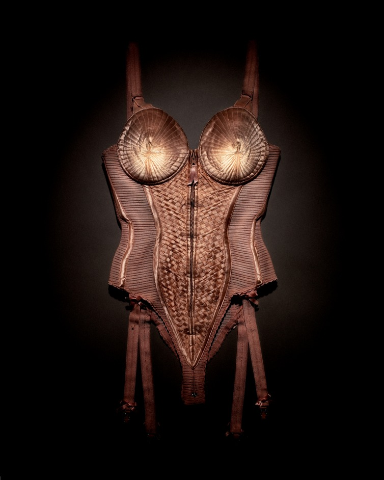 The Fashion World of Jean Paul Gaultier: From the Sidewalk to the Catwalk - Body corset worn by Madonna, Blond Ambition World Tour