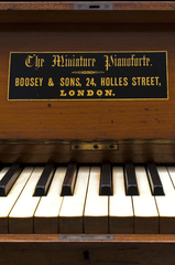 At Home With Music - pright 'Miniature' Piano, Boosey & Sons, 1863 or 1864. Photo credit: The Horniman Museum and Gardens