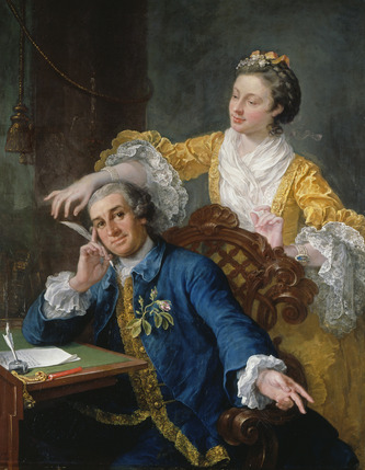 The First Georgians: Art and Monarchy 1714-1760 - David Garrick with his Wife Eva-Maria Veigel, c.1757-64, William Hogarth