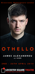 James Alexandrou in Othello