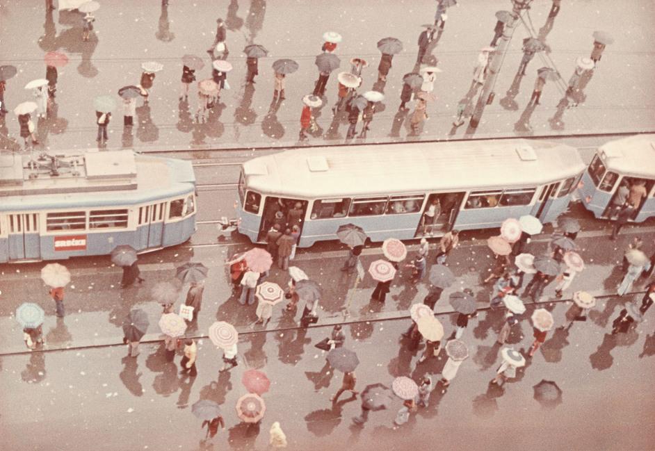 Primrose: Russian Colour Photography - Dimitri Baltermants, Rain, 1960s