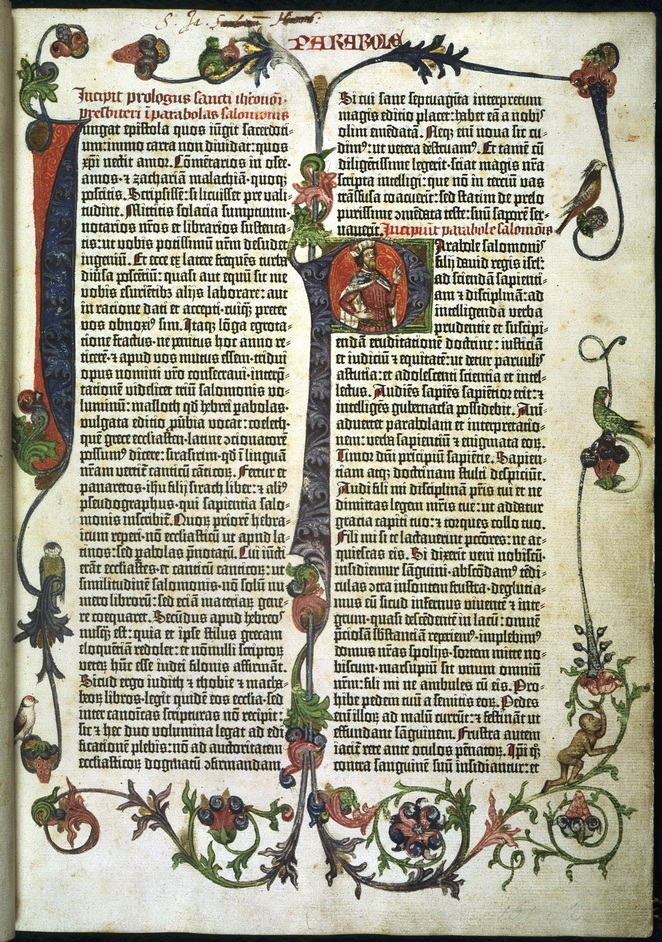 Germany - Parabole or Proverbs of the Gutenberg Bible. Mainz,1455. © British Library Board