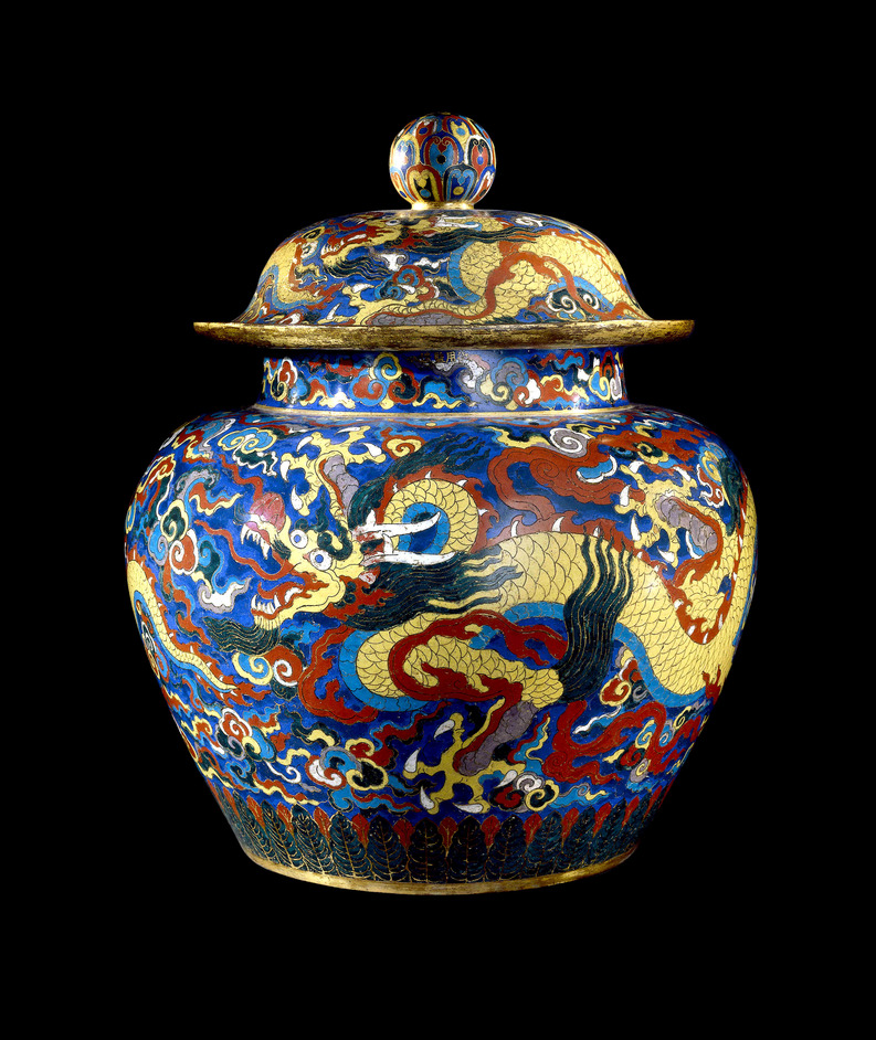Ming: 50 Years That Changed China - Cloisonné enamel jar (1426-1435) © The Trustees of the British Museum