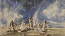 Constable: The Making of a Master  - Stonehenge,Watercolour c.1835 by Victoria and Albert Museum, London