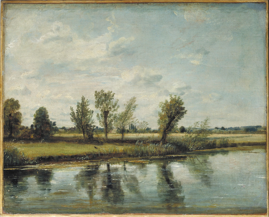 Constable: The Making of a Master  - Watermeadows near Salisbury, Oil on canvas 1829/30 © Victoria and Albert Museum